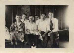 Robert James Shea (2nd from right) at Howell Tubercular Sanatorium c. 1920