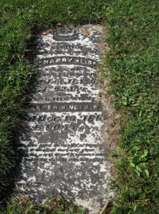 Gravestone of Captain Harry Alison and Frances SInclair Alison, St. Paul's Cemetery, Warwick Township, Lambton County, Ontario, Canada