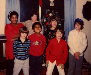 Cousins, at the Johnson Christmas Party, c. late 1980s