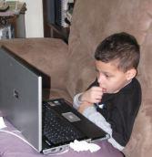 Nephew #1 on a computer