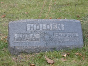 C B Holden headstone