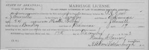 York-Philips Marriage License, 1903