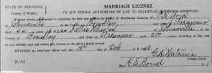 York-Wheeler Marriage  License, 1913