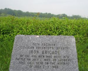 Marker to the 24th Michigan Infantry at Gettysburg, Pennsylvania