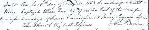 Ellen Cunningham Baptism, 1863