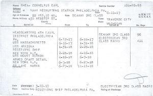 Cornelius Earl Shea's World War I Navy Veteran's Bonus