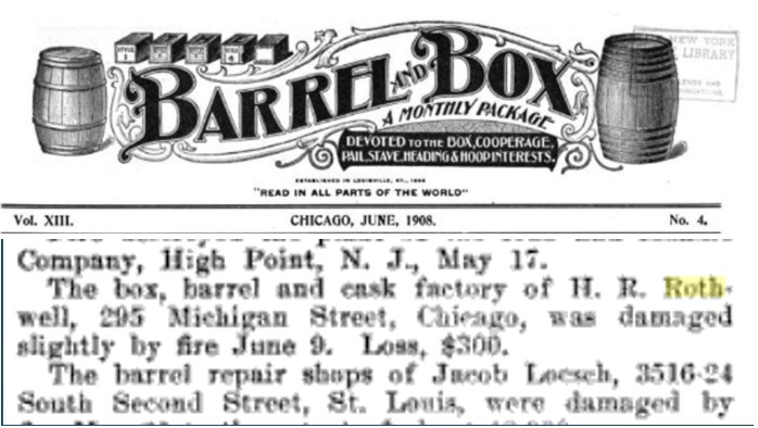 Clippings from Barrel and Box, July 1908